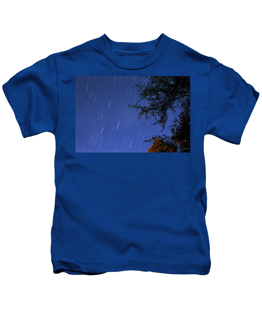 Night Kids T-Shirt featuring the photograph Stars Falling by Kay Lovingood