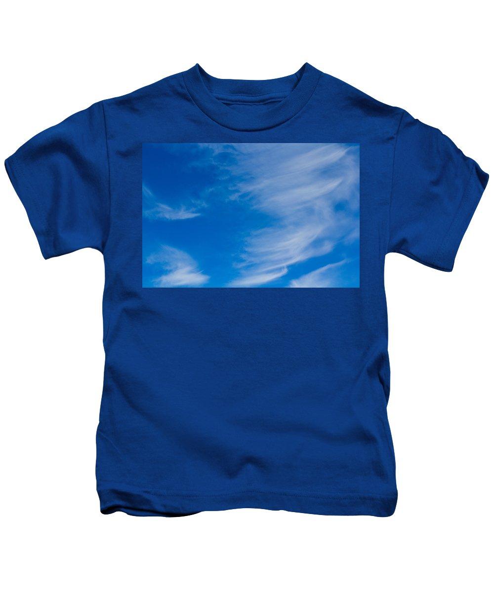 Clouds Kids T-Shirt featuring the photograph Summer Cloud Images by David Pyatt