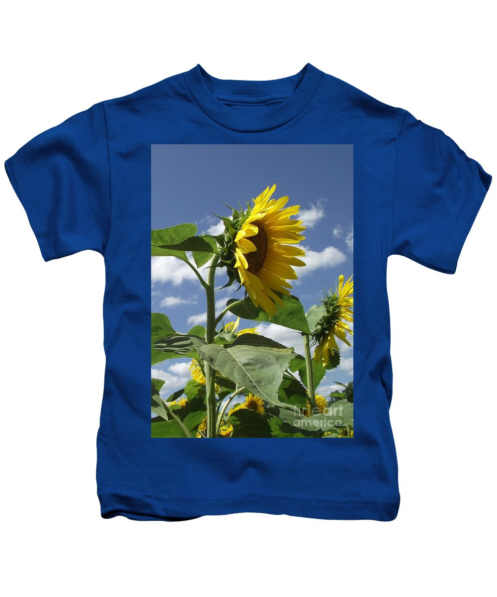 Sunflowers Kids T-Shirt featuring the photograph Sunshine Flowers by Michelle Welles