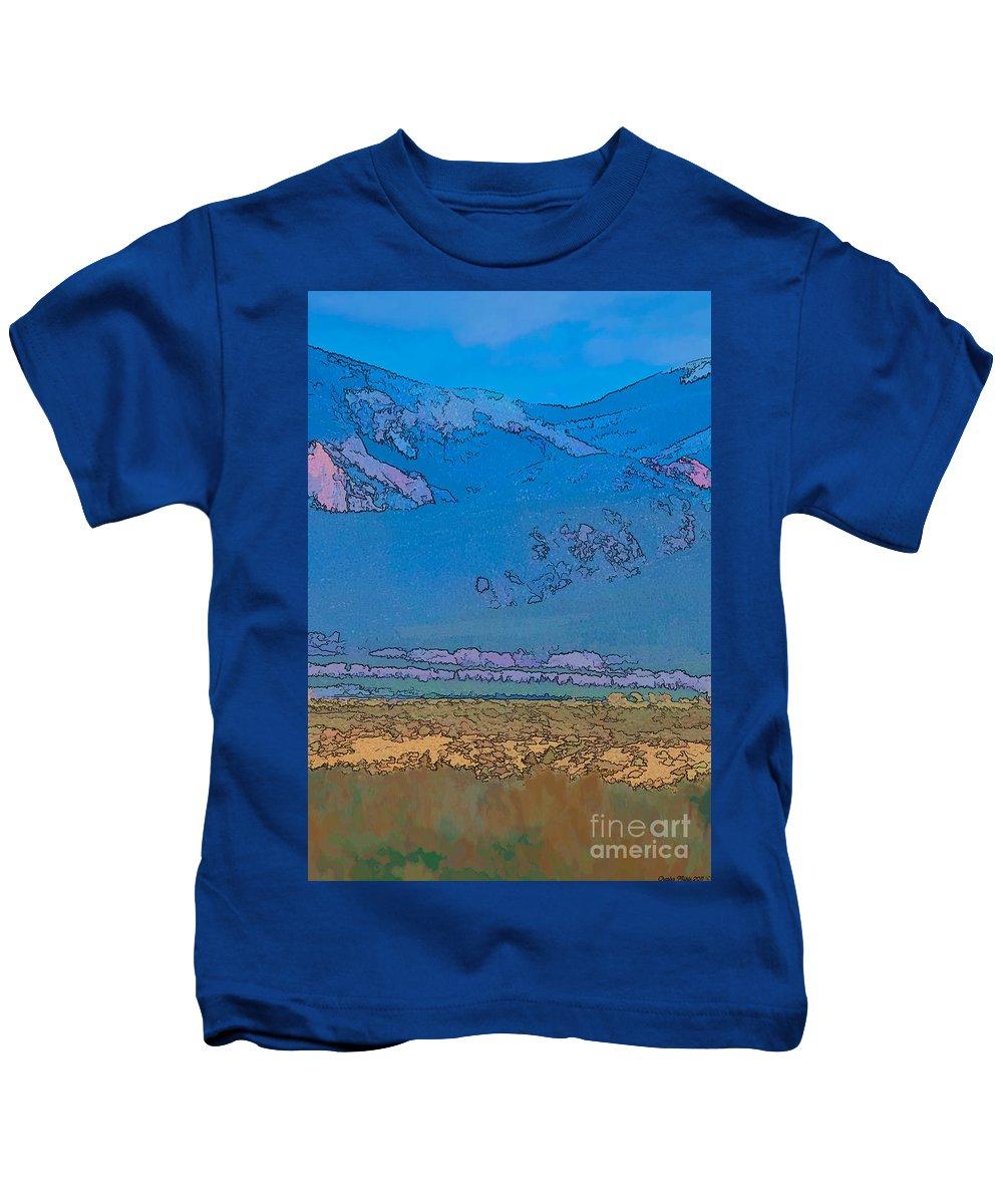 Santa Kids T-Shirt featuring the digital art Taos Abstract by Charles Muhle