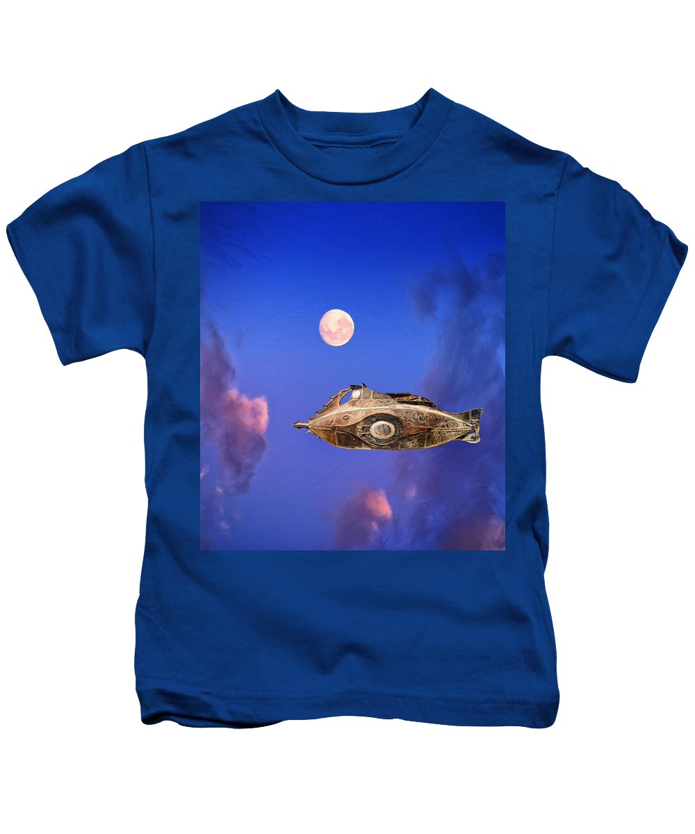 Terra Incognita Kids T-Shirt featuring the painting Terra Incognita by Dominic Piperata