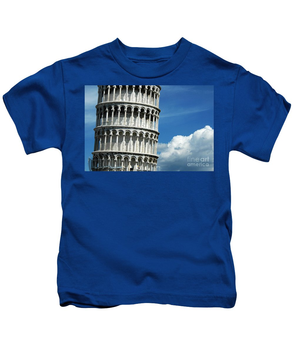 Pisa Kids T-Shirt featuring the photograph The Leaning Tower Of Pisa Italy by Mike Nellums