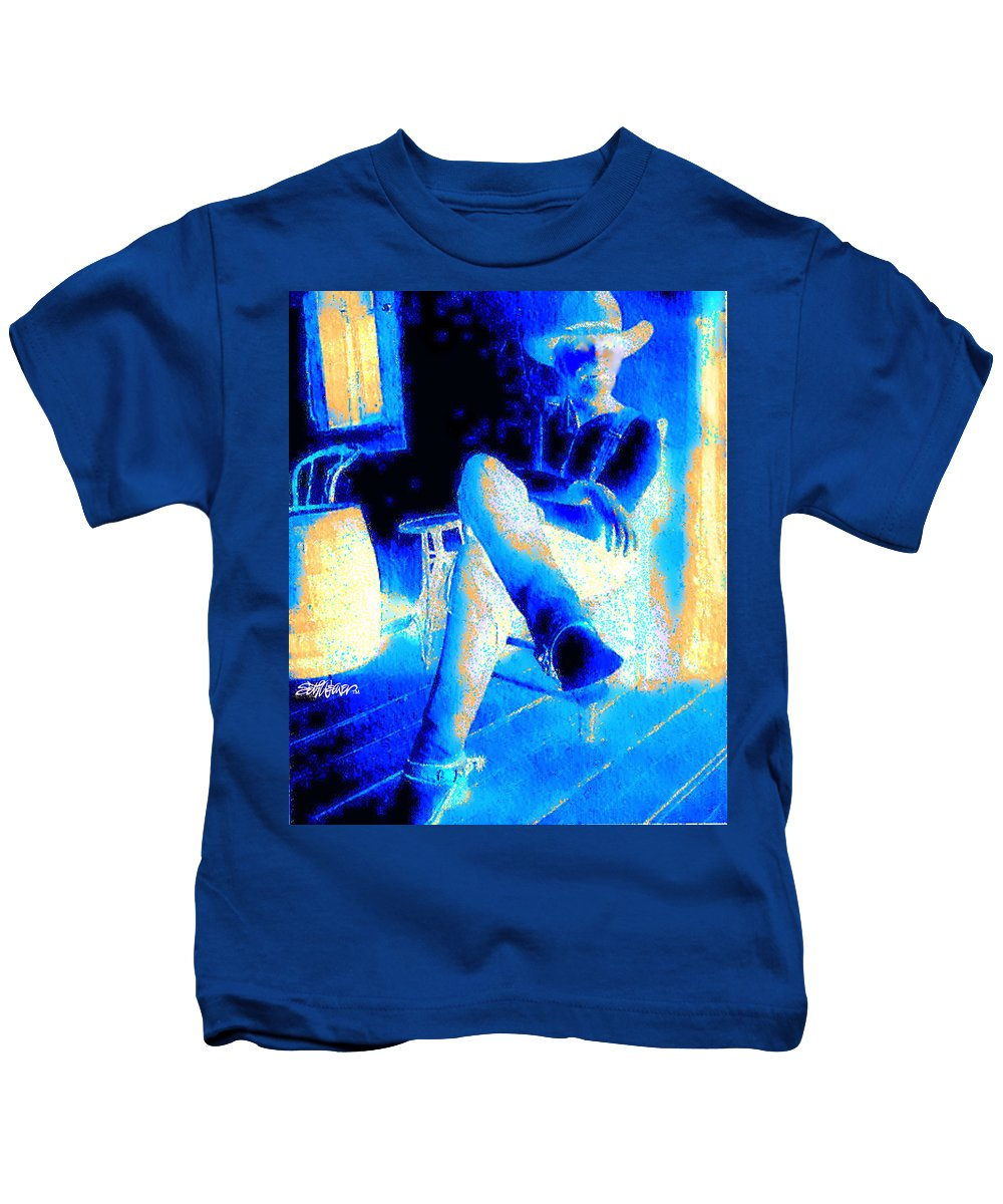 Waiting Up Kids T-Shirt featuring the photograph Waiting Up by Seth Weaver