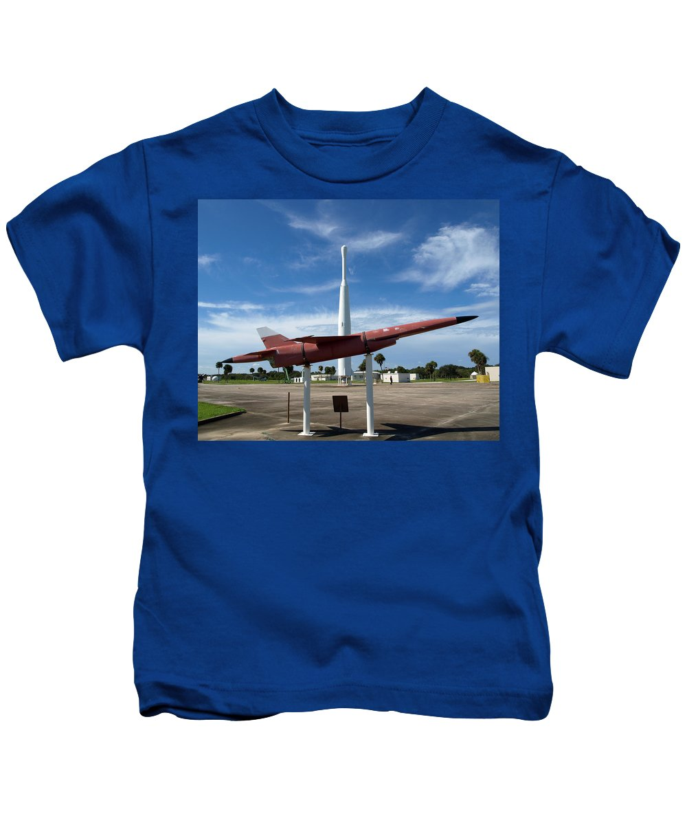 Thor; Able; Thor-able; Missle; U.s.; Airforce; Air Force; Air; Force; Cape; Canaveral; Nasa; Rocket; Kids T-Shirt featuring the photograph Air Force Museum At Cape Canaveral by Allan Hughes