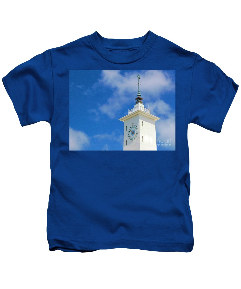 Clock Kids T-Shirt featuring the photograph All Along The Watchtower by Debbi Granruth
