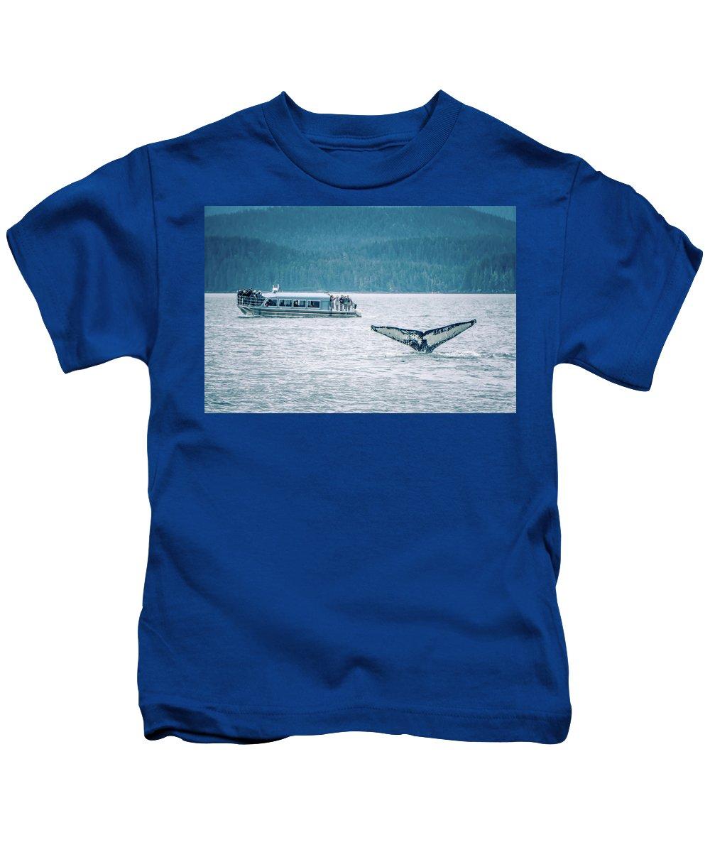 Cruise Kids T-Shirt featuring the photograph Cruise Ship Pier 91 In Seattle Washington by Alex Grichenko