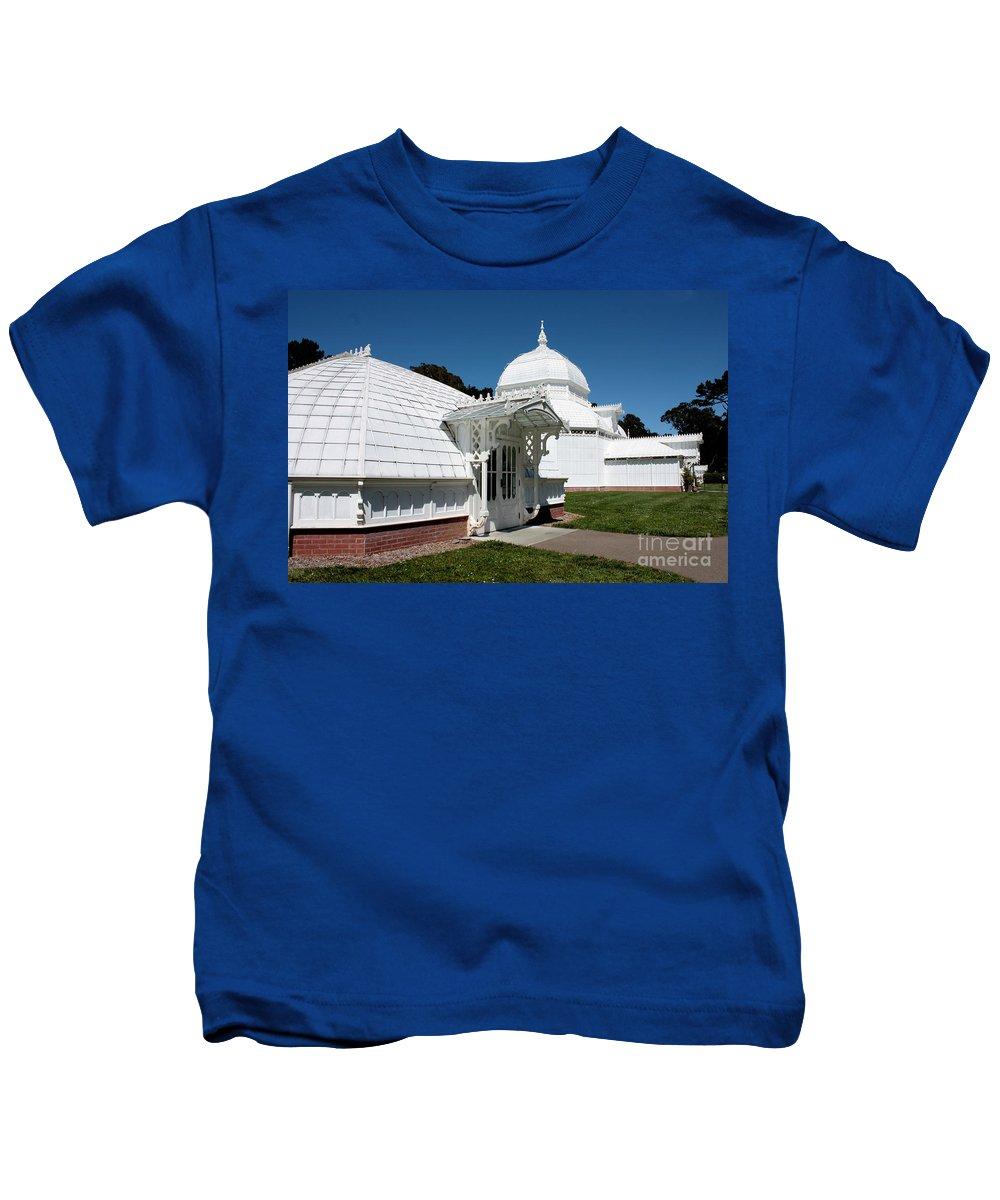 Victorian Kids T-Shirt featuring the photograph Golden Gate Conservatory by Carol Groenen
