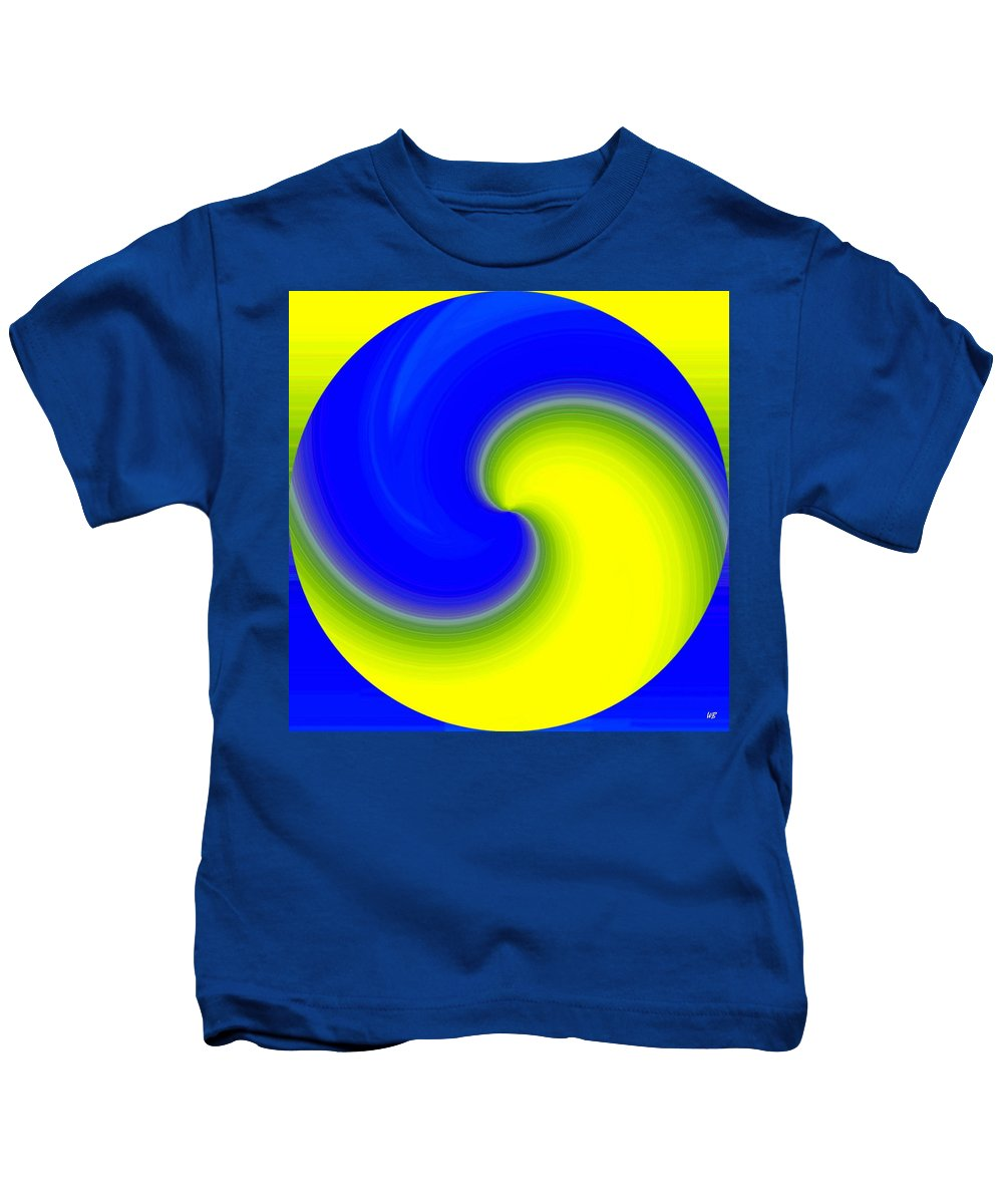 Abstract Kids T-Shirt featuring the digital art Harmony 22 by Will Borden