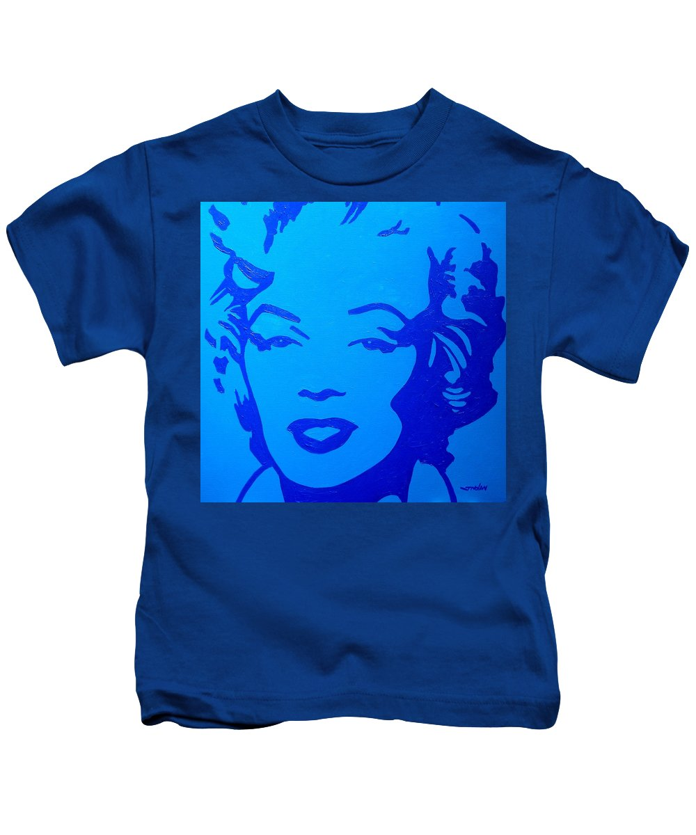 Acrylic Kids T-Shirt featuring the painting Marilyn by John Nolan