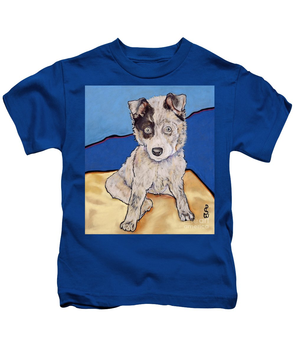 Aussie Kids T-Shirt featuring the painting Reba Rae by Pat Saunders-White