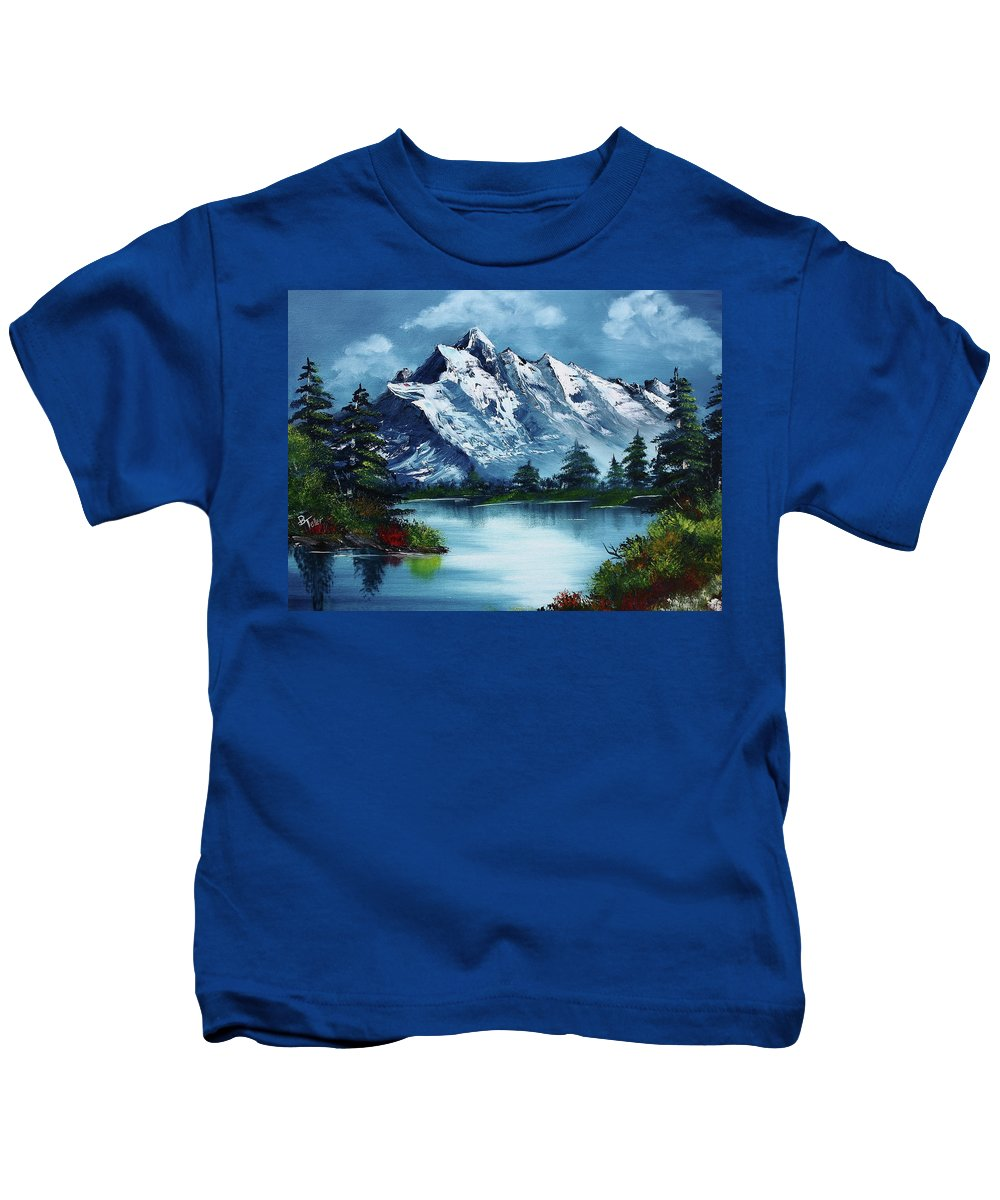 Kids T-Shirt featuring the painting Take A Breath by Barbara Teller