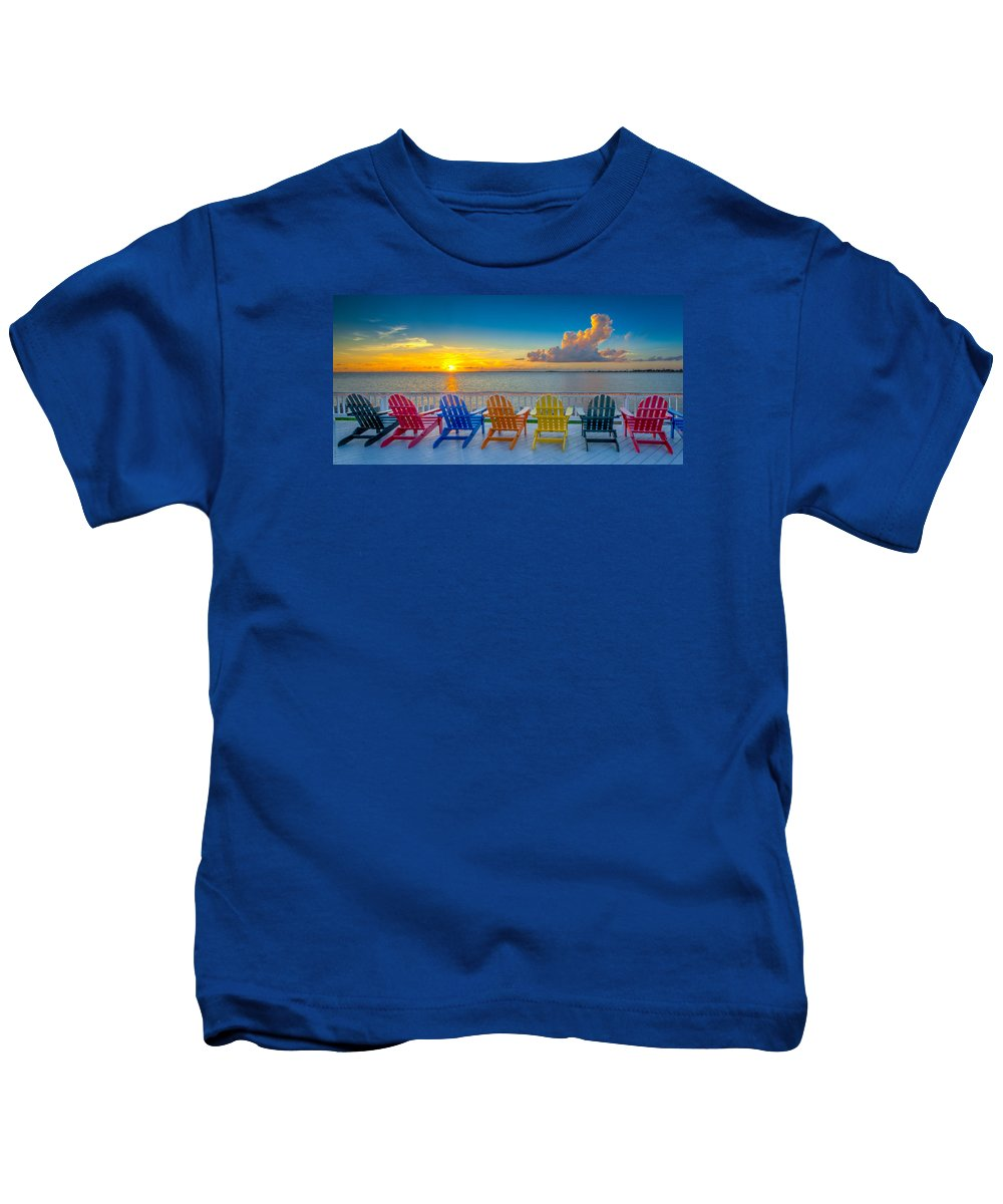 Rocky Point Kids T-Shirt featuring the photograph Tampa Bay Sunset by Lance Raab