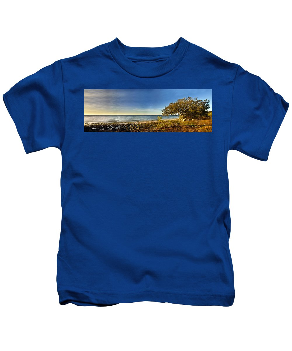 Panoramic Kids T-Shirt featuring the photograph Trees by George Cabig