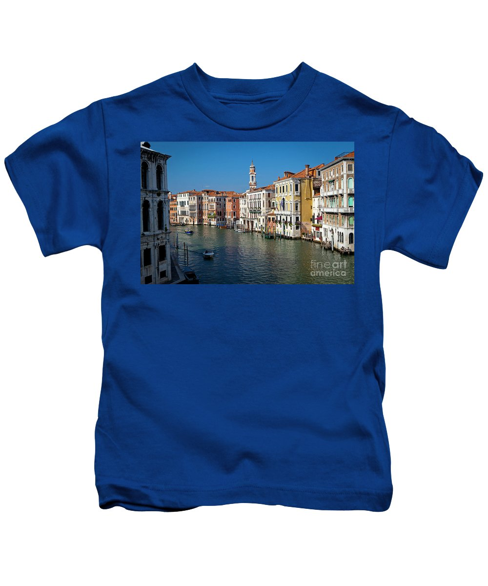 Venice Kids T-Shirt featuring the photograph 1399 Venice Grand Canal by Steve Sturgill