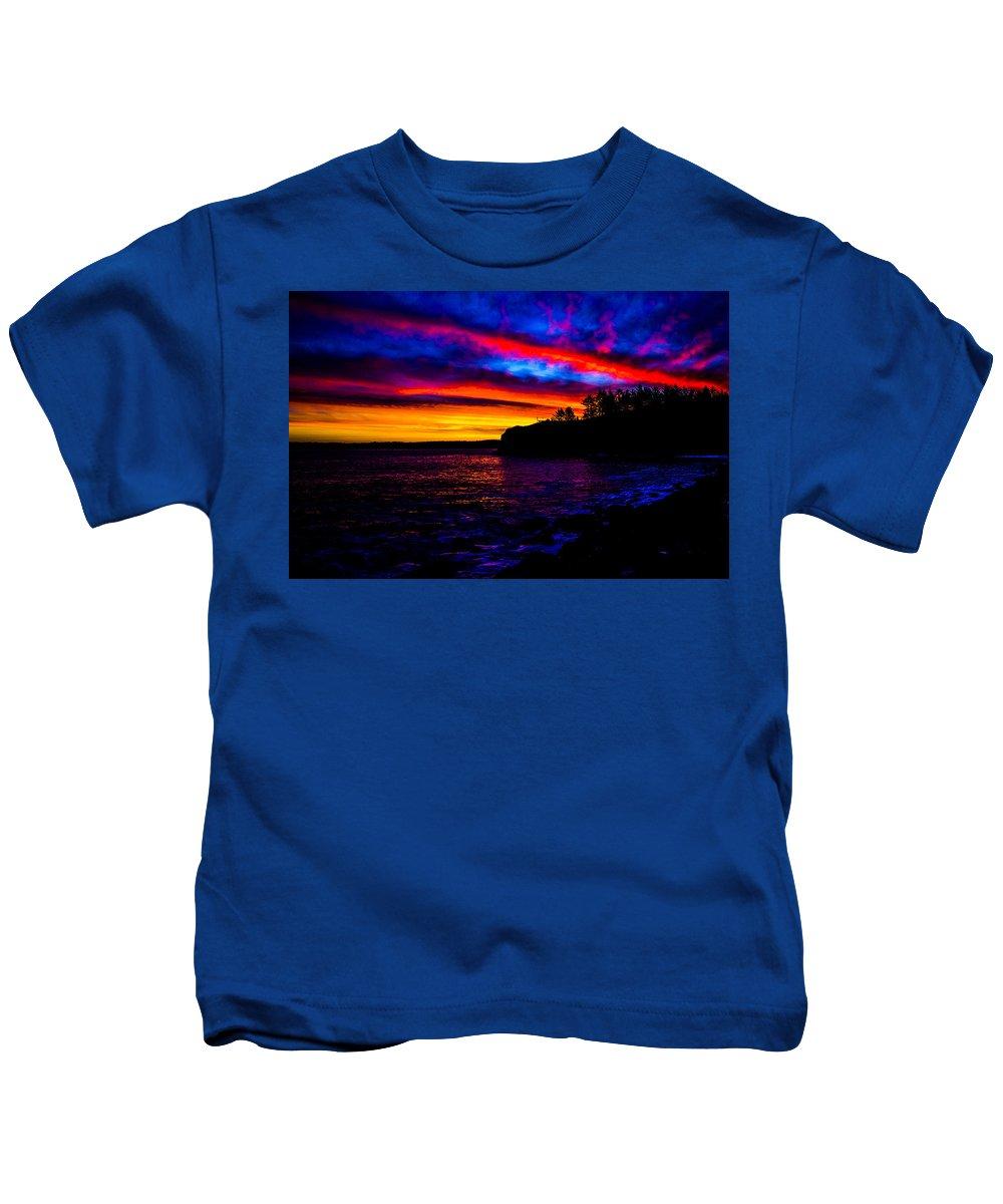 Kids T-Shirt featuring the photograph Full Moon Bastendorff by Angus Hooper Iii