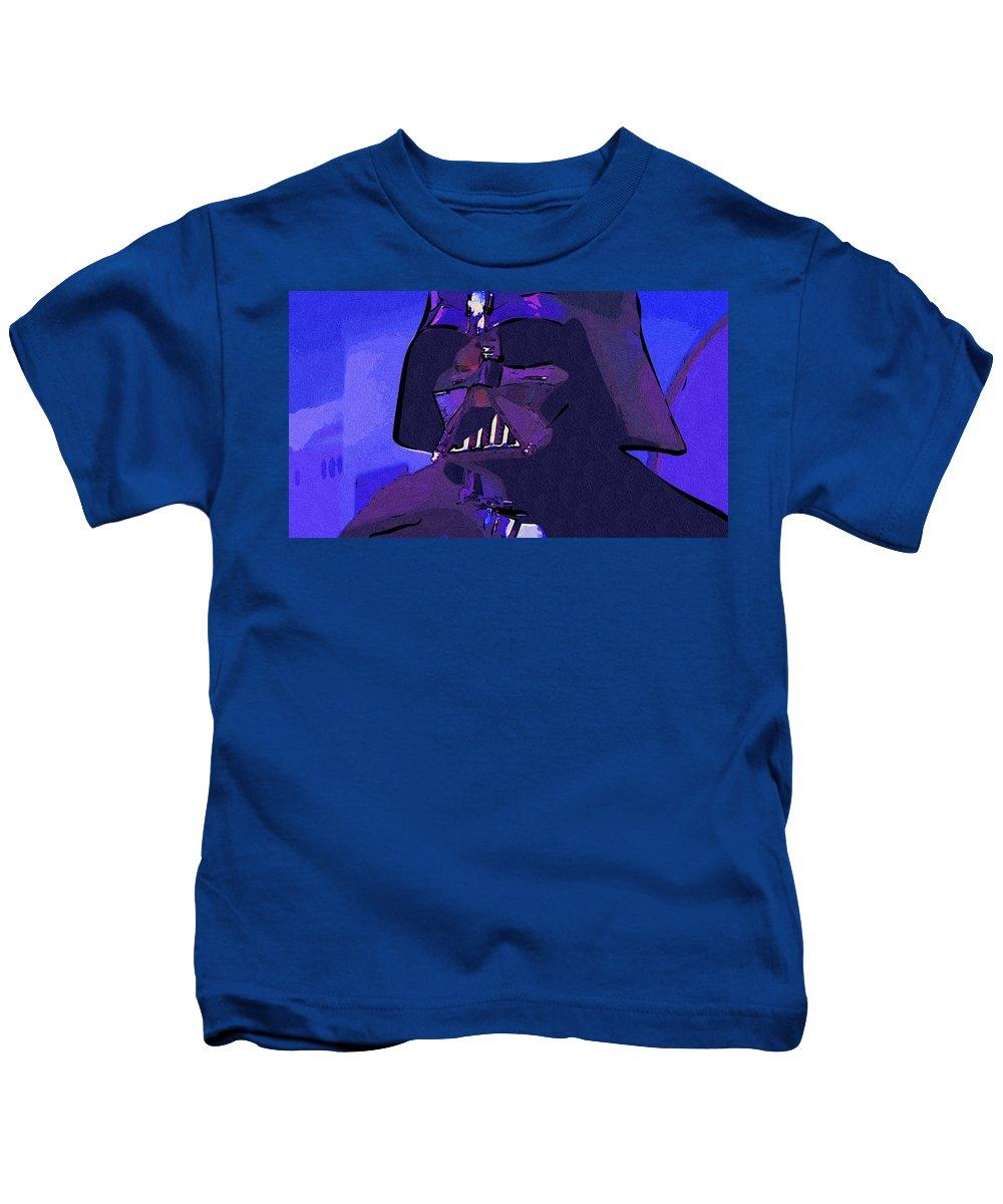 Star Wars Kids T-Shirt featuring the digital art Galaxies Star Wars Art by Larry Jones