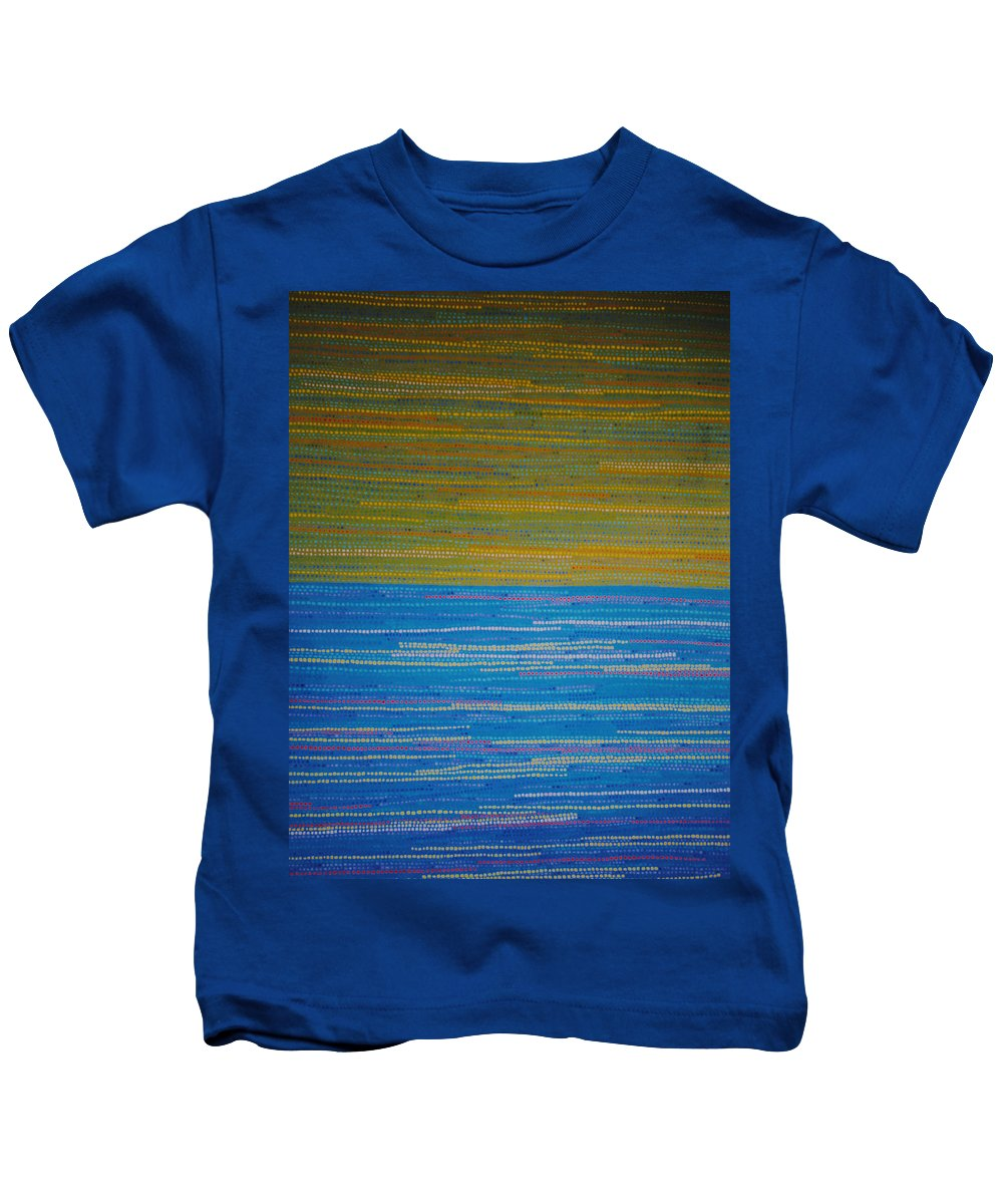 Abstract Kids T-Shirt featuring the painting Identity by Kyung Hee Hogg