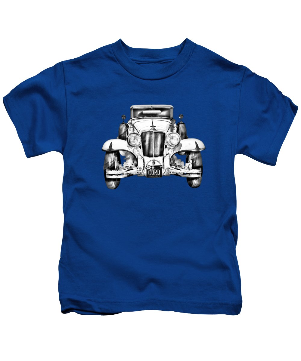 Vintage Kids T-Shirt featuring the photograph 1929 Cord 6-29 Cabriolet Antique Car Illustration by Keith Webber Jr