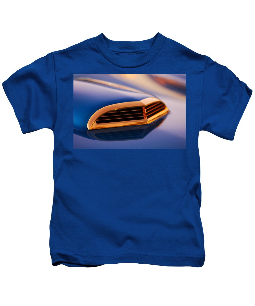 Classic Car Kids T-Shirt featuring the photograph 1957 Ford Thunderbird Scoop by Jill Reger