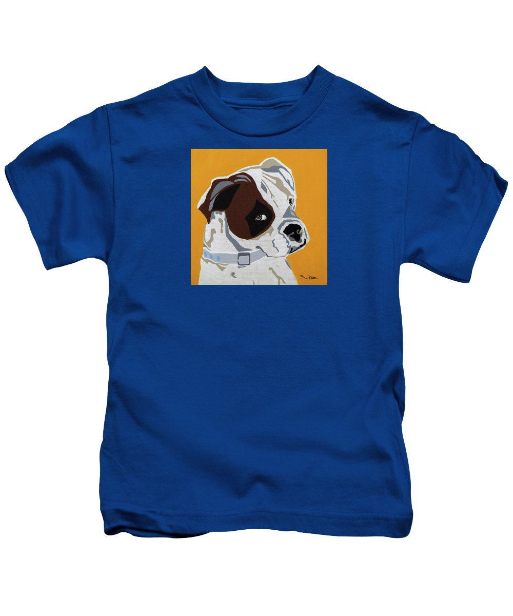 Boxer Kids T-Shirt featuring the painting Boxer by Slade Roberts