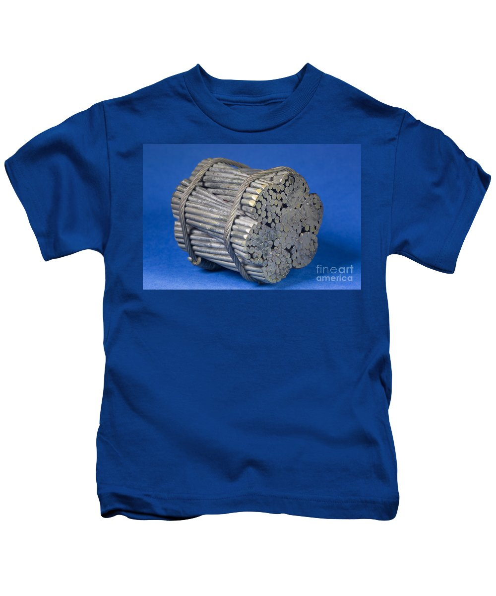 California Kids T-Shirt featuring the photograph Golden Gate Bridge Cable by Ted Kinsman