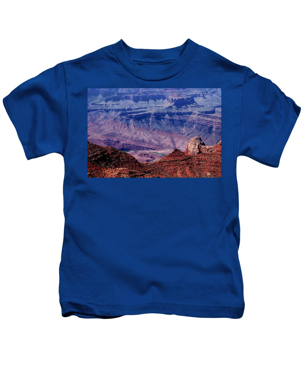Grand Canyon Kids T-Shirt featuring the photograph Grand Canyon View by Susanne Van Hulst