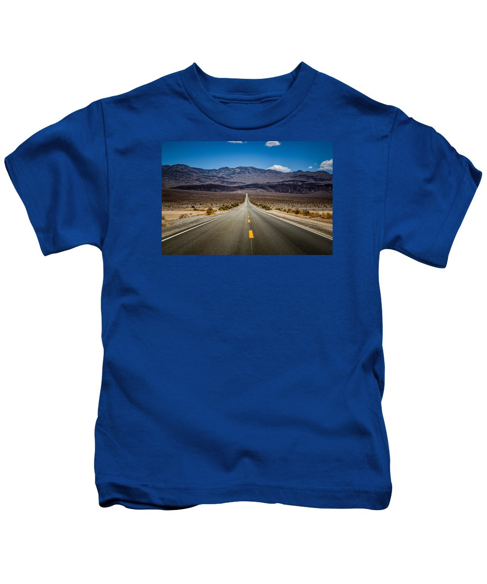 Fine Arts Photography Kids T-Shirt featuring the photograph Miles To Anywhere by John Bosma