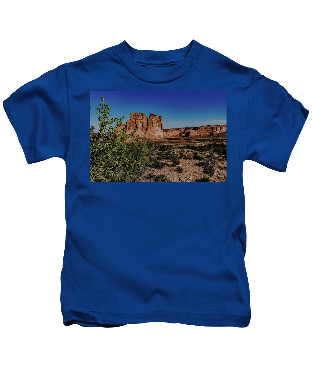 Arches National Park Kids T-Shirt featuring the photograph Arches Park National by Steven Eyre Photography