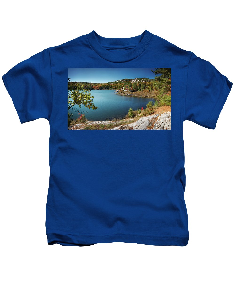 Lake Kids T-Shirt featuring the photograph Killarney Provincial Park In Fall by Oleksiy Maksymenko