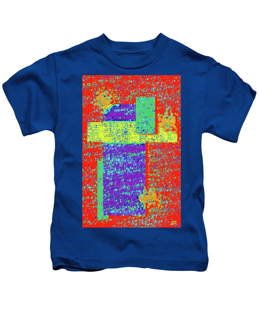 Abstract Kids T-Shirt featuring the digital art 4 U 359 by John Saunders