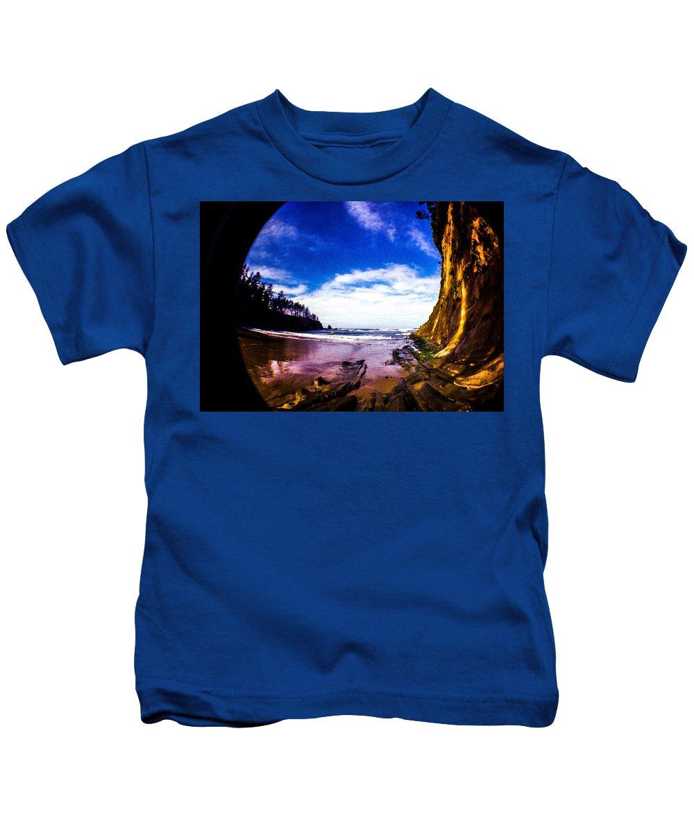 Kids T-Shirt featuring the photograph Fisheye Camera by Angus Hooper Iii