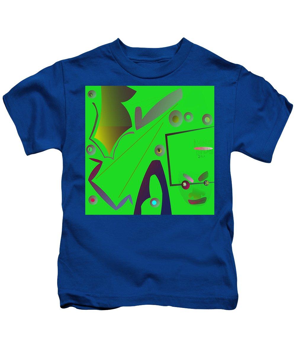Kids T-Shirt featuring the digital art 50 Eyes Open by Aminus Bplus