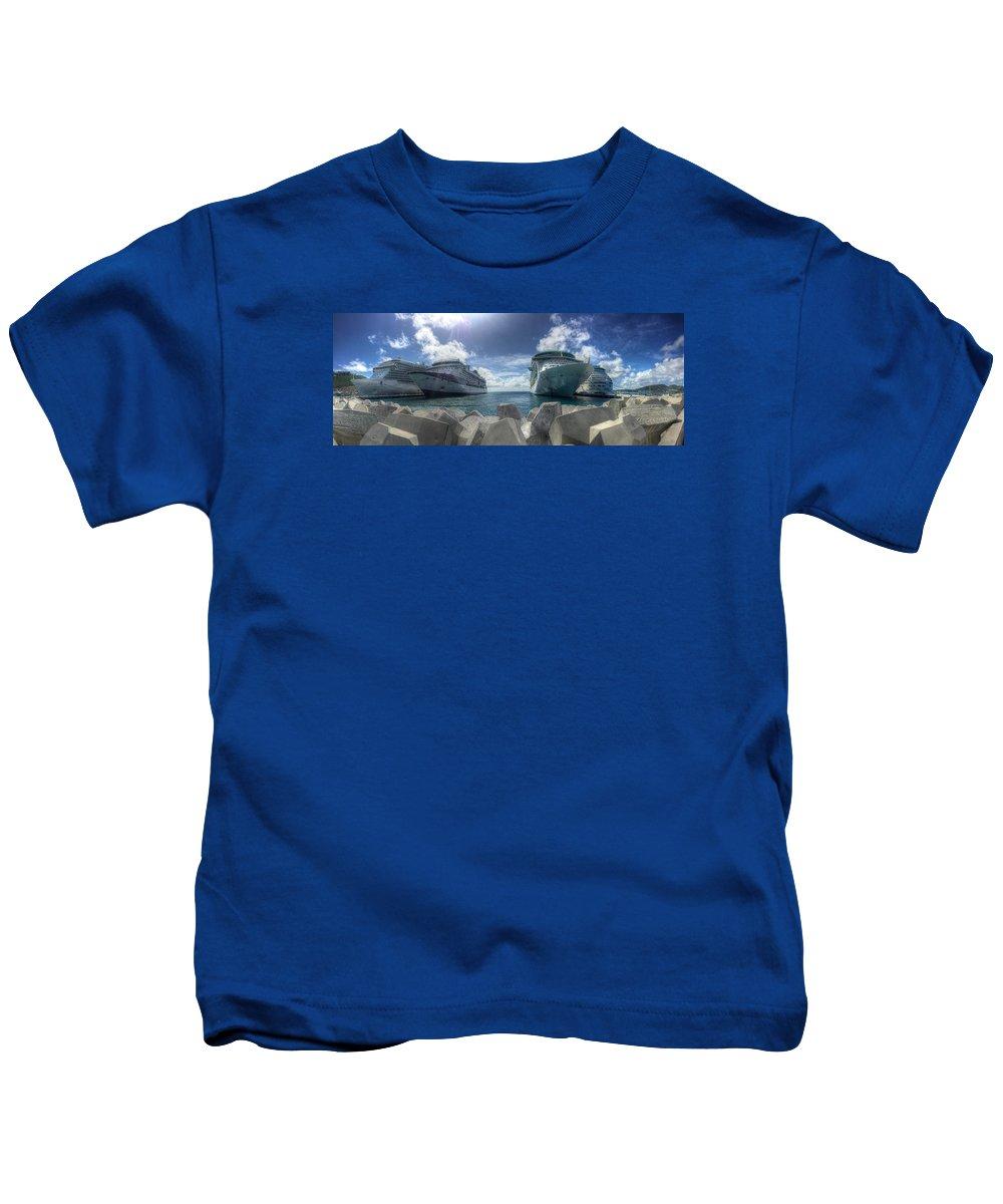 St. Maarten Kids T-Shirt featuring the photograph St. Maarten by Paul James Bannerman