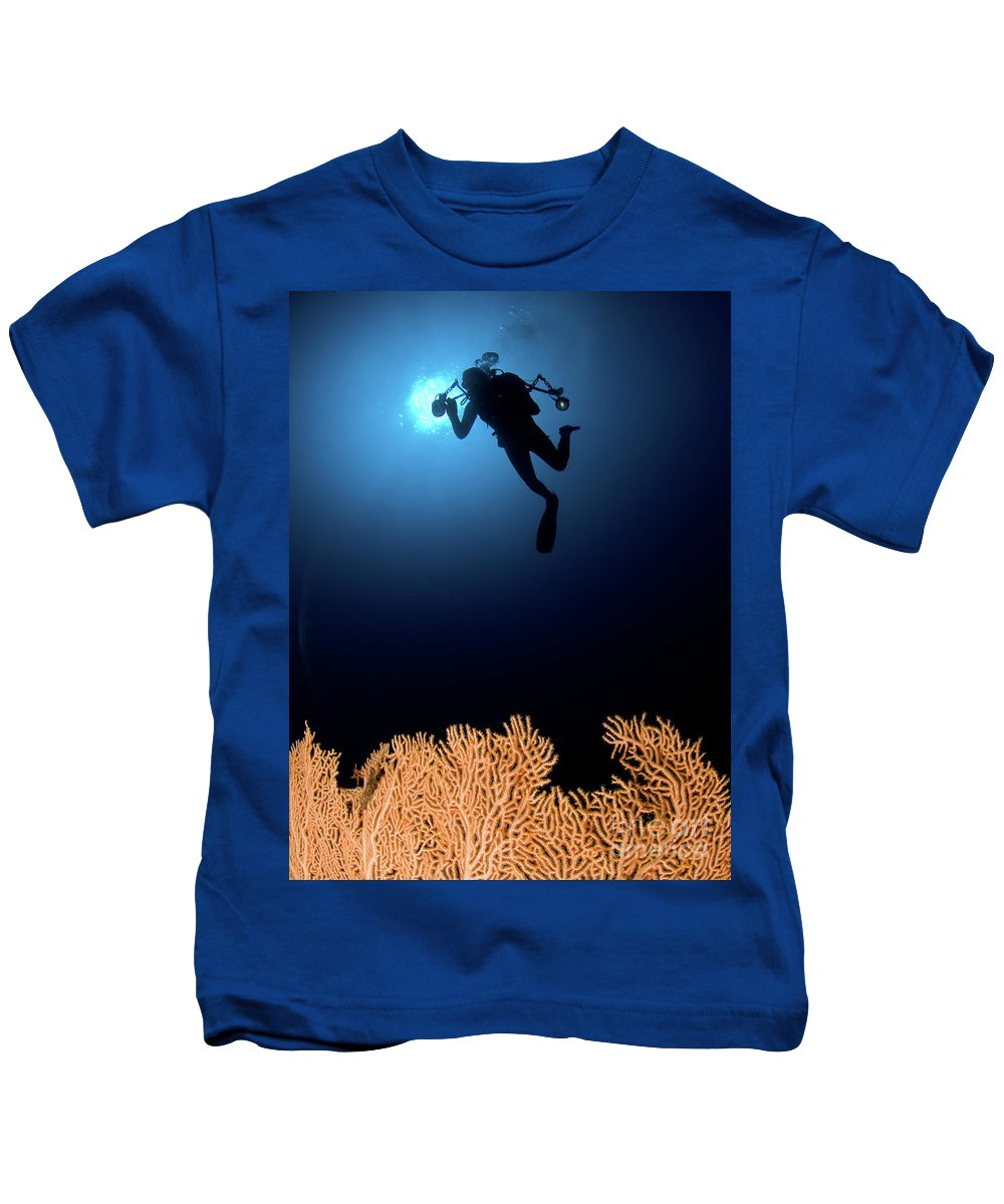 Underwater Kids T-Shirt featuring the photograph Underwater Photography by Hagai Nativ
