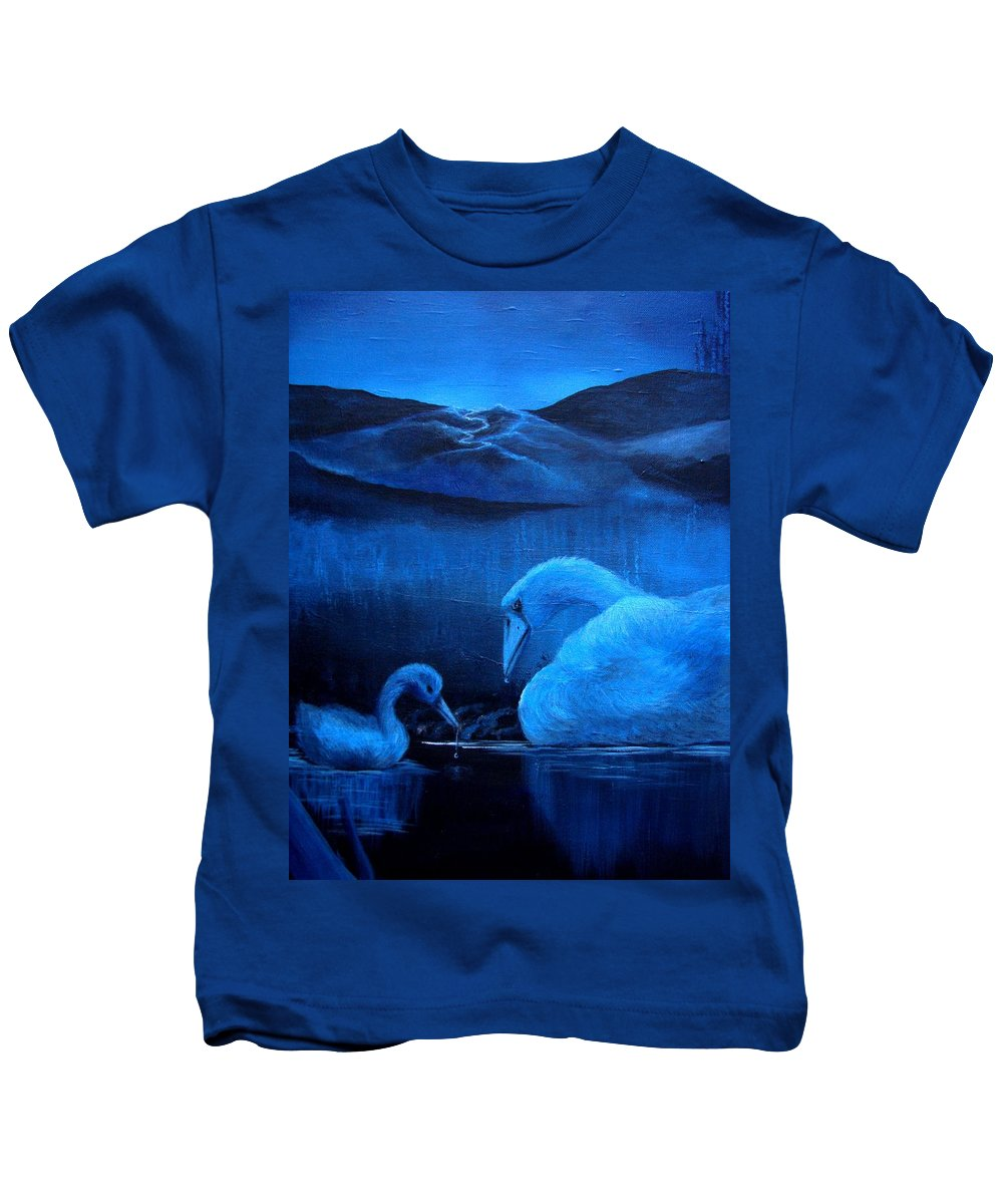 Kids T-Shirt featuring the painting A Beautiful Night by Glory Fraulein Wolfe
