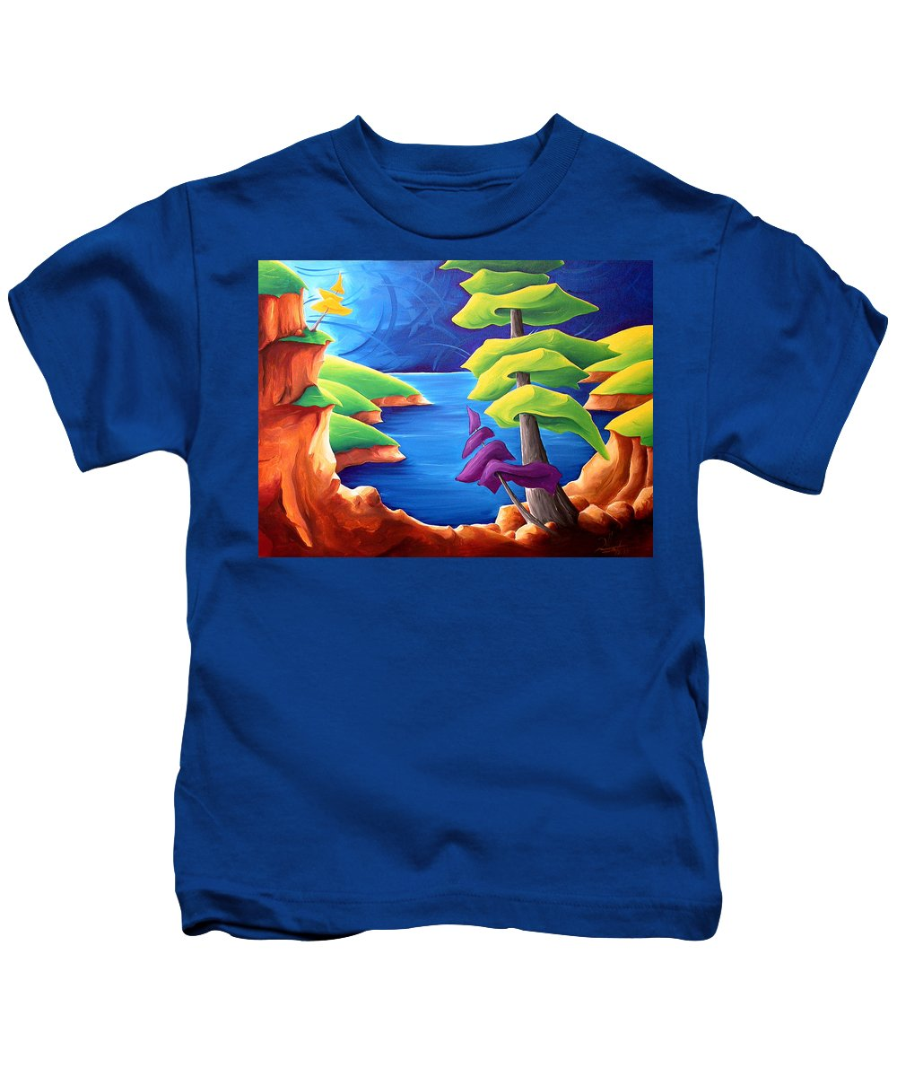 Landscape Kids T-Shirt featuring the painting A Moment In Time by Richard Hoedl