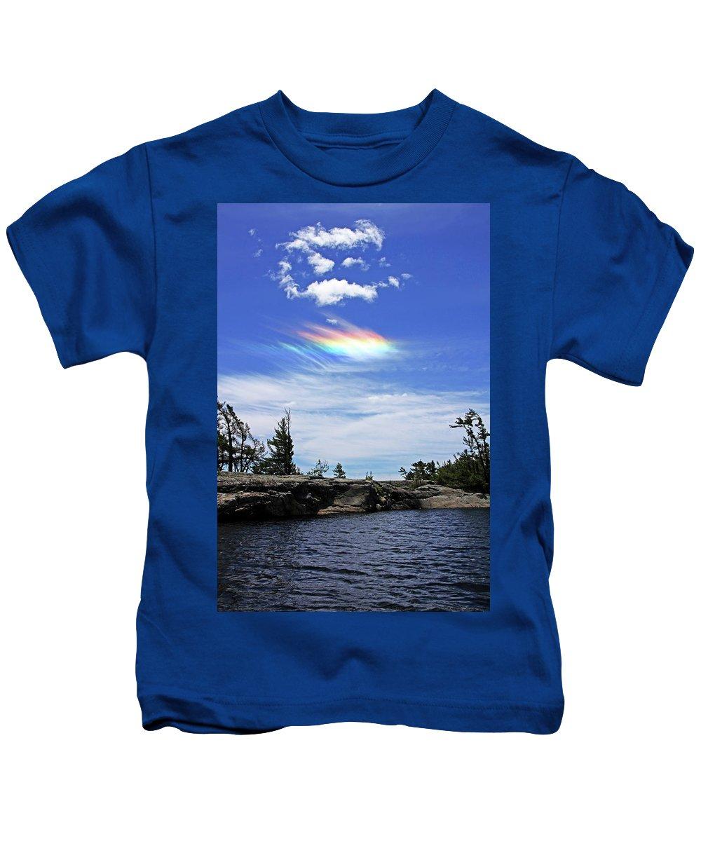 Circumhorizontal Arc Kids T-Shirt featuring the photograph A Rare Sighting by Debbie Oppermann