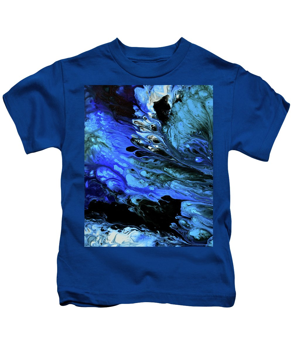 Kids T-Shirt featuring the painting A Sea Of Tears by Destiny Womack