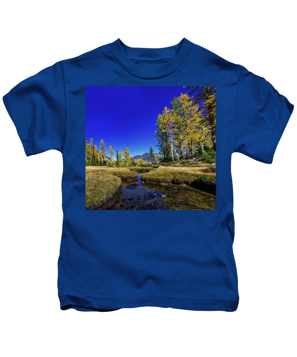 West Kids T-Shirt featuring the photograph A Western Autumn by Sergei Akulich