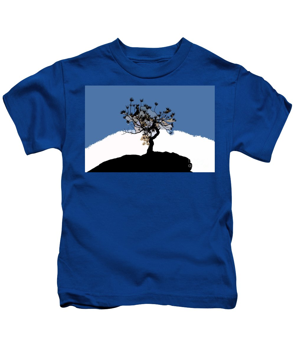 Tree Kids T-Shirt featuring the painting A Will To Live by David Lee Thompson