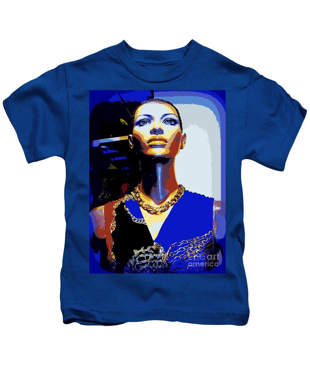 Mannequins Kids T-Shirt featuring the photograph A Womans Strength by Ed Weidman