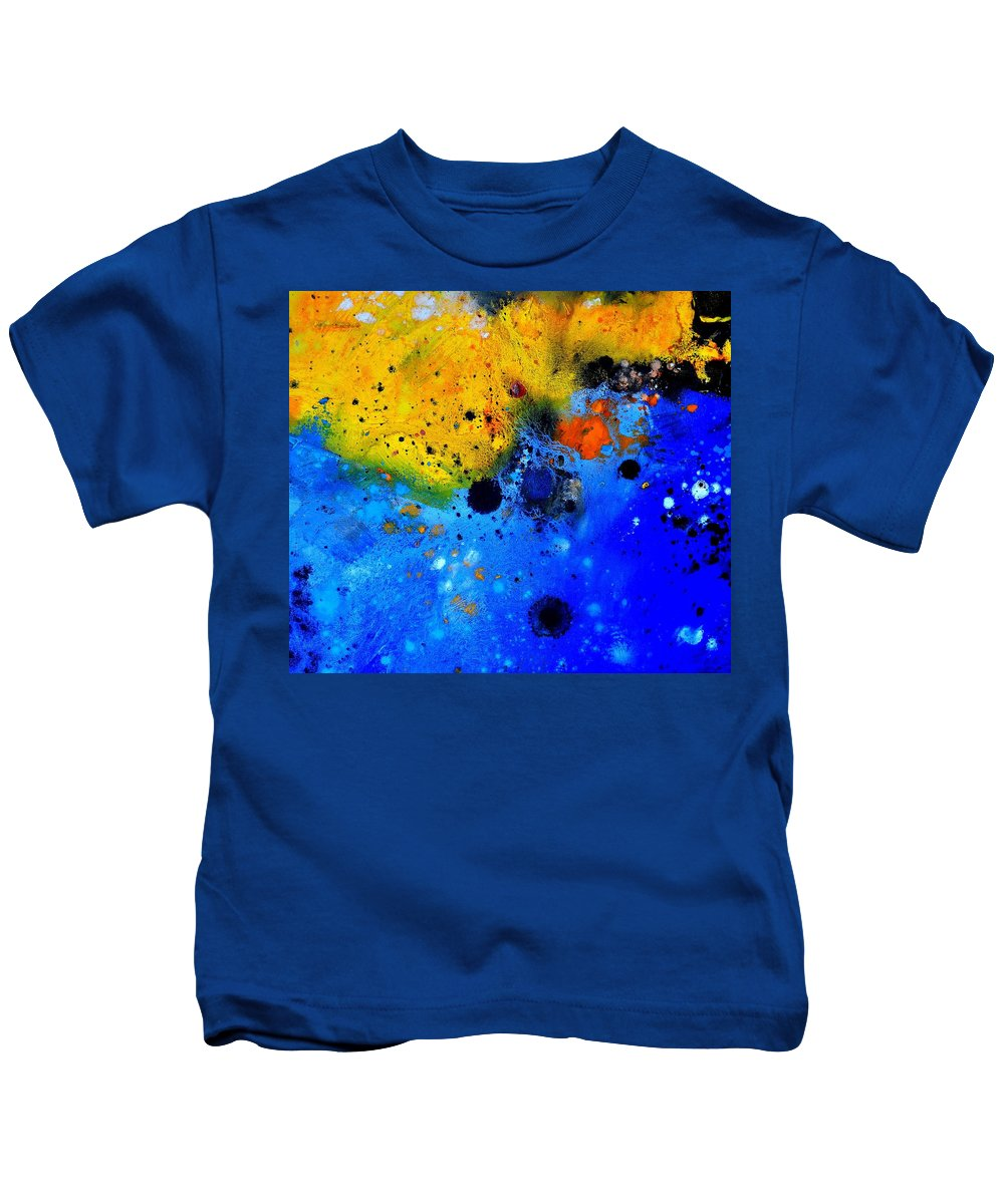 Abstract Kids T-Shirt featuring the painting Abstract 767b by Pol Ledent