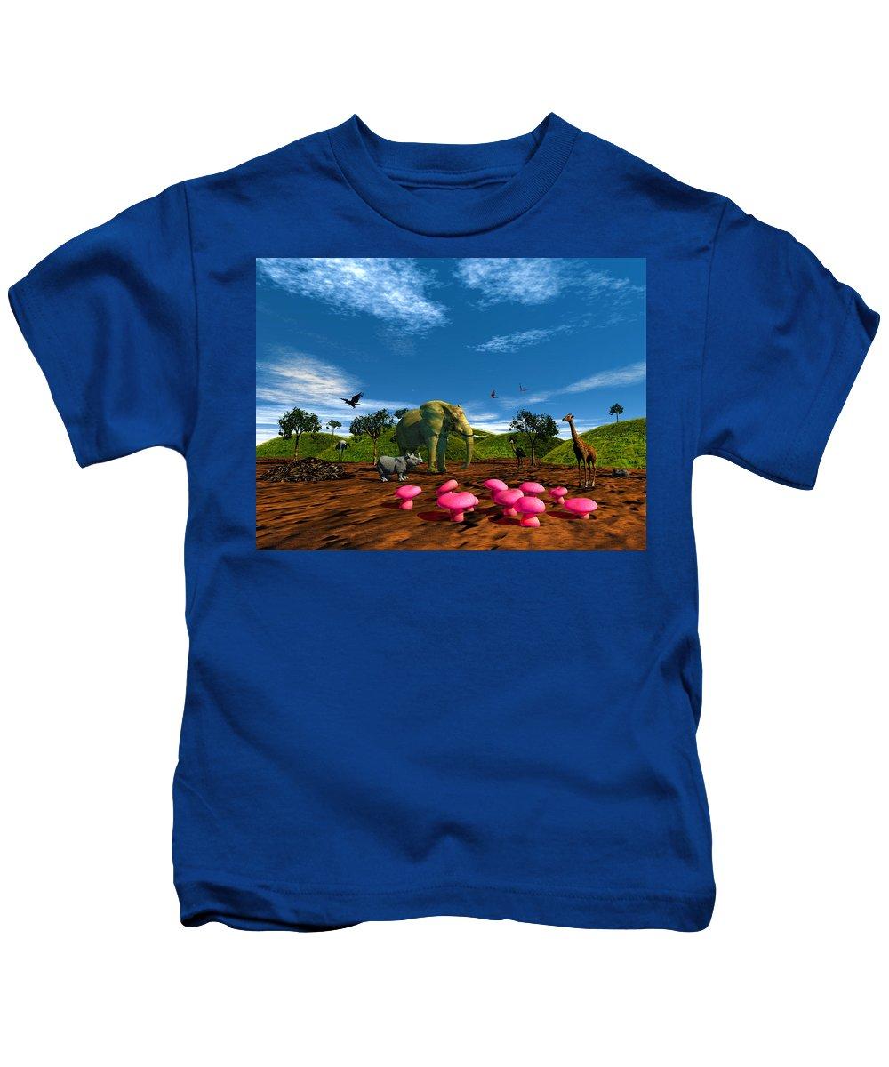 Afriquarium Kids T-Shirt featuring the photograph Afriquarium by Mark Blauhoefer