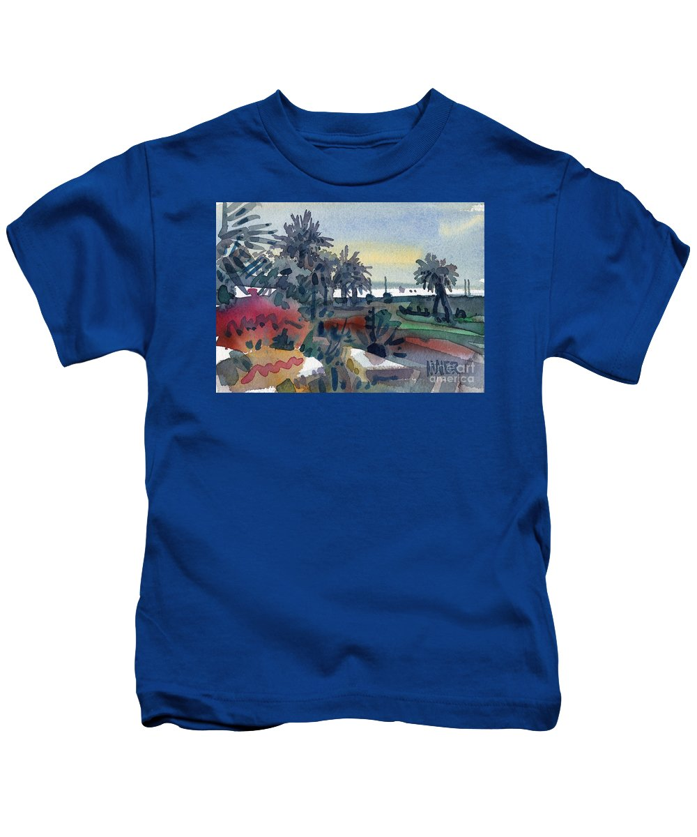 Tropical Kids T-Shirt featuring the painting Afternoon In The Keys by Donald Maier