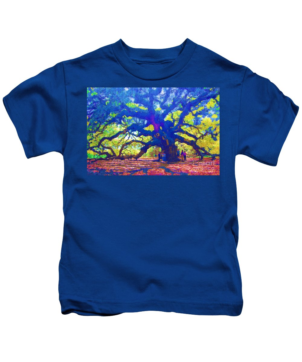 Tree Kids T-Shirt featuring the photograph Angel Oak Tree by Donna Bentley