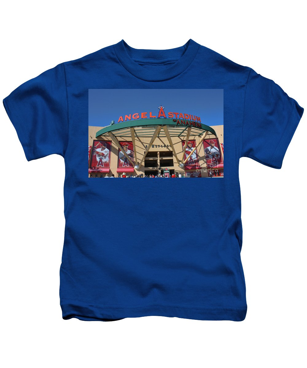 Angel Stadium Kids T-Shirt featuring the photograph Angel Stadium by Tommy Anderson