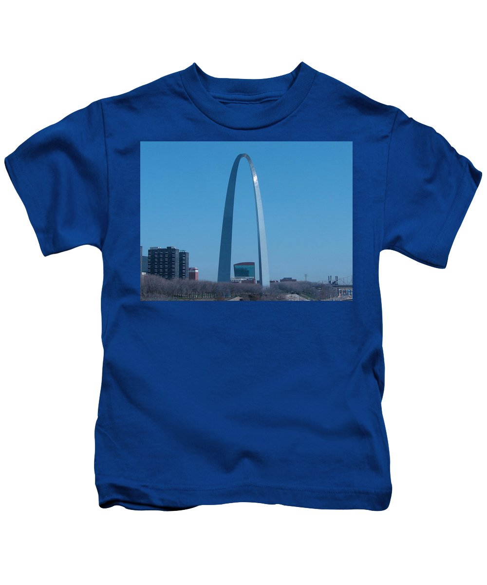 St Louis Kids T-Shirt featuring the photograph Arch With Lumiere by J R Seymour