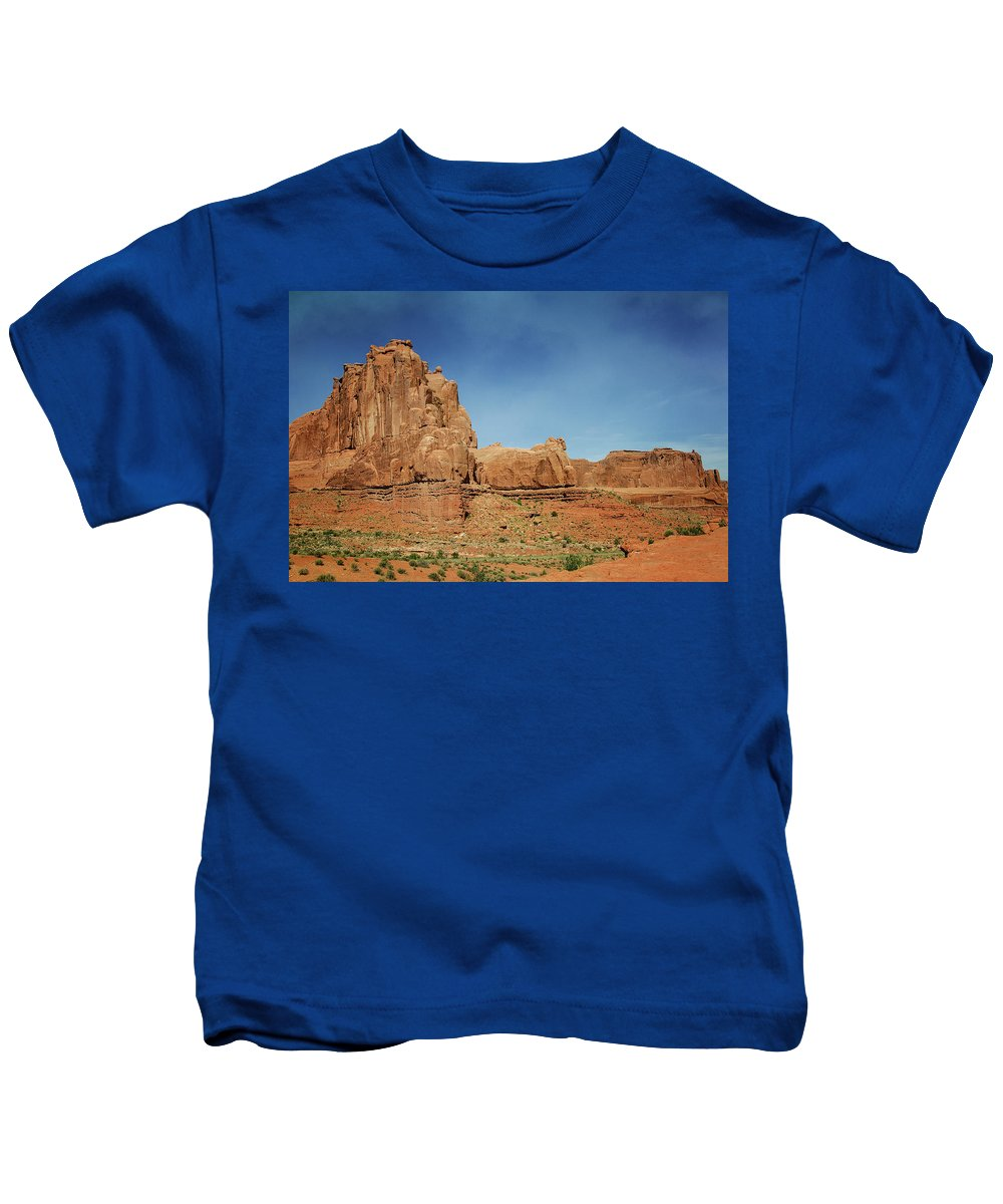 Arches National Park 2 Kids T-Shirt featuring the photograph Arches National Park 2 by Susan McMenamin