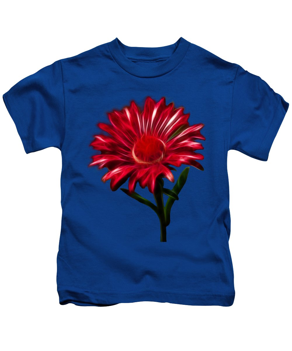 Daisy Kids T-Shirt featuring the photograph Red Daisy by Shane Bechler