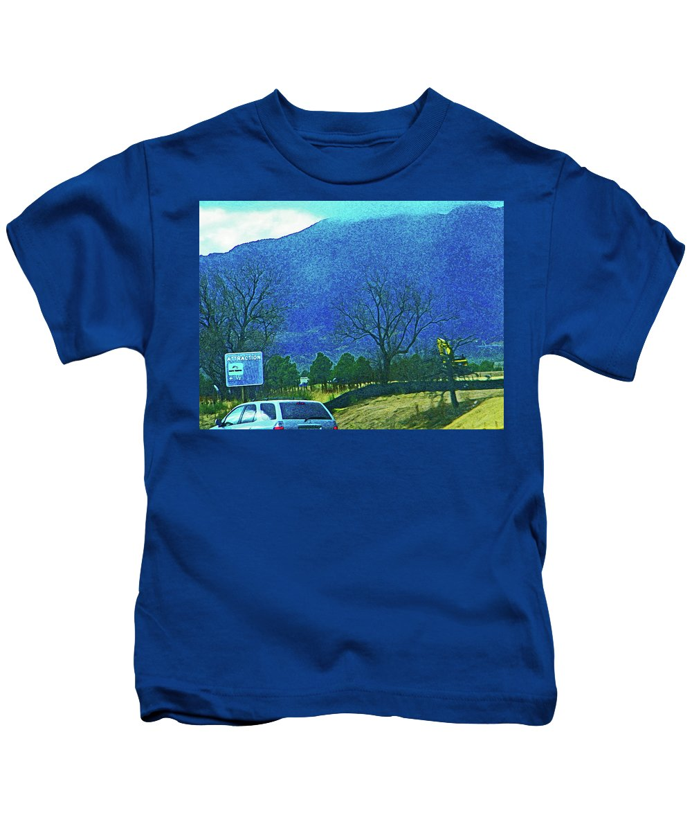 Abstract Kids T-Shirt featuring the photograph Attraction by Lenore Senior